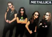 Metallica - 'Group Grey Background' Postcard